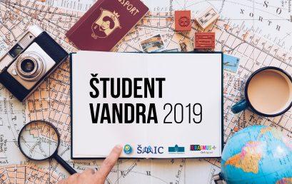 "Natečaj ""Študent vandra 2019"""